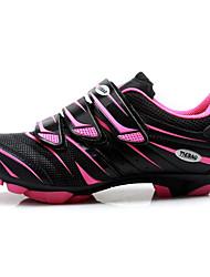cheap -Tiebao® Mountain Bike Shoes Carbon Fiber Anti-Slip Cycling Fuchsia Men's Cycling Shoes / Breathable Mesh / Hook and Loop