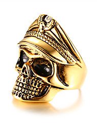 cheap -Statement Ring Mexican Sugar Skull Gold Steel Stainless Skull Fashion 9 10 11 12 / Men's