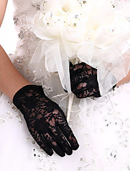 cheap -Lace Wrist Length Glove Bridal Gloves / Party / Evening Gloves With Embroidery