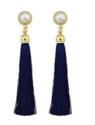 cheap -Women's Drop Earrings Tassel Fashion Earrings Jewelry Light Pink / Dark Green / Dark Navy For Gift Date