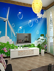 cheap -3D Custom Windmill Large Wall Covering Mural Wallpaper Fit Bedroom Bedroom Landscape
