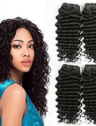 cheap -4 Bundles Peruvian Hair Wavy Human Hair Human Hair Extensions Natural Color Human Hair Weaves Extention Hot Sale Human Hair Extensions / 8A