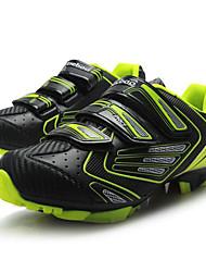 cheap -Tiebao® Mountain Bike Shoes Carbon Fiber Anti-Slip Cycling Black / Yellow Men's Cycling Shoes / Hook and Loop