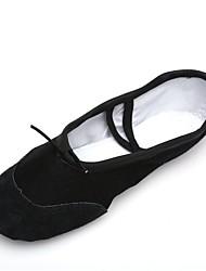 cheap -Men's Dance Shoes Canvas Ballet Shoes Splicing Sneaker / Full Sole Flat Heel Customizable Black / Indoor