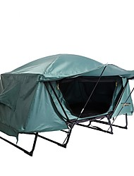 cheap -1 person Fishing Tent Outdoor Windproof Rain Waterproof Double Layered Poled Dome Camping Tent 2000-3000 mm for Fishing Camping / Hiking / Caving Traveling UV Oxford cloth Oxford 214*77*120 cm