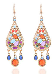 cheap -Women's Tanzanite Drop Earrings Drop Ladies Bohemian Fashion Boho Resin Earrings Jewelry Rainbow For Holiday Going out
