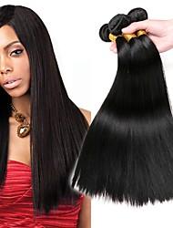 cheap -3 Bundles Brazilian Hair Straight Human Hair Human Hair Extensions Natural Color Human Hair Weaves Extention Hot Sale Human Hair Extensions / 8A
