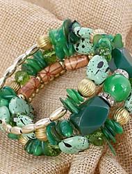 cheap -Women's Bead Bracelet Oversized Stone Bracelet Jewelry Purple / Red / Green For Gift Daily