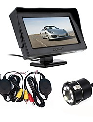 cheap -ZIQIAO Parking Assist 2.4G Wireless 4.3 Inch TFT LCD Mirror Monitor Car Rear View Camera Reverse Night Vision Nights Sensor