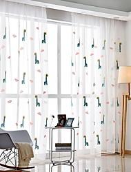 cheap -Sheer Curtains Shades Living Room Cartoon Cotton / Polyester Printed