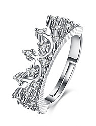 cheap -Open Cuff Ring Silver Copper Crown Ladies Adjustable / Women's