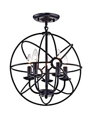 Недорогие -CXYlight 5-Light 40 cm Люстры и лампы Металл Окрашенные отделки Ретро / Деревенский 110-120Вольт / 220-240Вольт