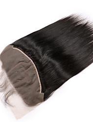 Недорогие -Guanyuwigs Бразильские волосы 5x13 Закрытие Прямой Бесплатный Часть / Средняя часть / 3 Часть Швейцарское кружево Remy Жен. С детскими волосами / Шелковистость / Классический