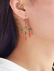 cheap -Drop Earrings Chandelier Drop Ladies Fashion Earrings Jewelry Yellow / Fuchsia / Blue For Daily Date