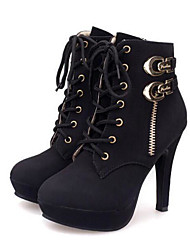 cheap -Women's Boots Platform PU Booties / Ankle Boots Combat Boots Fall / Winter Yellow / Black / EU42