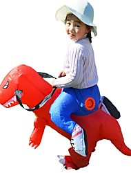 cheap -Dragon Riding A Dinosaur Inflatable Costume Kid's Boys' Festival / Holiday PVC (Polyvinylchlorid) Red / Cyan Easy Carnival Costumes