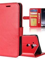 cheap -Case For Nokia Nokia 9 / Nokia 8 / Nokia 7 Wallet / Card Holder / Flip Full Body Cases Solid Colored Hard PU Leather