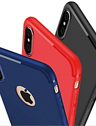 cheap -Case For Apple iPhone X / iPhone 8 Plus / iPhone 8 Frosted Back Cover Solid Colored Soft Silicone
