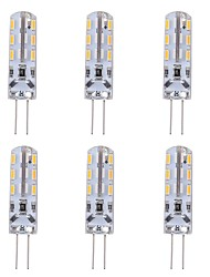 cheap -1W G4 Bi-pin LED Bulb Light 24 SMD 3014 Red Blue Green Decorative Atmosphere Lighting DC 12V (6 Pcs)