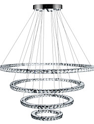 cheap -1-Light 90 cm Crystal / Dimmable / LED Chandelier Metal Circle Electroplated Modern Contemporary 110-120V / 220-240V
