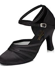 abordables -Femme Chaussures Modernes / Salon Synthétique Talon Talon Cubain Chaussures de danse Noir / Violet / Entraînement / EU39