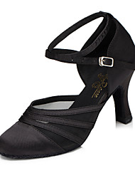 cheap -Women's Modern Shoes / Ballroom Shoes Synthetic Heel Cuban Heel Dance Shoes Black / Purple / Practice / EU39