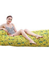 cheap -Air Sofa Inflatable Sofa Sleep lounger Inflatable Pool Floats Outdoor Waterproof Portable Moistureproof Ultra Light (UL) Polyester Taffeta 180*75*55 cm Hiking Beach Camping All Seasons Yellow