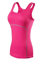 cheap -YUERLIAN Women's Running Base Layer Compression Tank Top Solid Colored Black Fuchsia Green Red Blue Spandex Running Fitness Gym Workout Compression Clothing Tank Top Sleeveless Sport Activewear