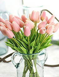 cheap -Artificial Flowers 10 Branch Rustic Party Tulips Eternal Flower Tabletop Flower 32cm
