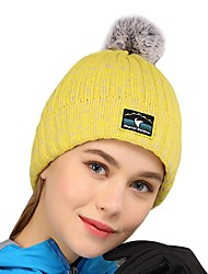 cheap -VEPEAL Hiking Cap Skull Cap Beanie Windproof Warm Stretchy Thick Solid Colored Fashion Acrylic Autumn / Fall for Women's Hiking Outdoor Exercise Traveling Sky Blue / Winter
