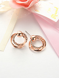 cheap -Stud Earrings Twist Circle Ladies Simple European Fashion Earrings Jewelry Rose Gold For Daily