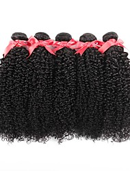 cheap -3 Bundles Indian Hair Curly Human Hair 300 g One Pack Solution Natural Color Human Hair Weaves Soft New Arrival Hot Sale Human Hair Extensions / 8A / Full Head Set