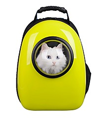 cheap -Dog Rabbits Cat Carrier Bag & Travel Backpack Waterproof Portable Mini Pet Oxford Cloth Creative British Fashion Yellow Fuchsia Green