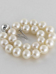 cheap -Women's Pearl Freshwater Pearl Bead Bracelet Ladies Simple Fashion Elegant Stainless Steel Bracelet Jewelry White For Party Gift / Silver Plated
