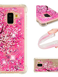 cheap -Phone Case For Samsung Galaxy Back Cover A3 A5 A7(2017) A8 2018 A8+ 2018 A5(2016) A3(2016) Shockproof Flowing Liquid Pattern Flower / Floral Glitter Shine Soft TPU