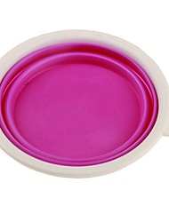 cheap -Dogs Cats Pets Feeding & Watering Supplies / Feeders 0.045 L Plastic Portable Mini Folding Food Solid Colored Purple Bowls & Feeding