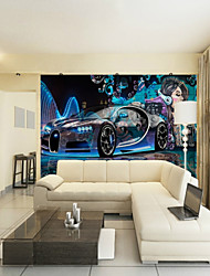 cheap -Custom Sci-Fi Car Beauty Large Wall Covering Mural Wallpaper Suitable for Office Bedroom Restaurant Technology