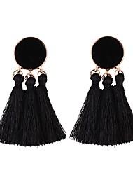 cheap -Drop Earrings Hoop Earrings Tassel Ladies Tassel European Fashion Earrings Jewelry Blue / Light Pink / skin For Daily Festival