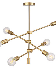 cheap -Modern Electroplated Pendant Lights With 6-Lights Fixture Flush Mount Living Room Dining Room Bedroom Chandelier