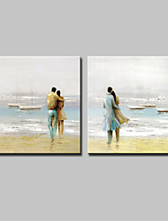 cheap -Mintura® Hand Painted Abstract Landscape Oil Painting On Canvas Modern Wall Art Pictures For Home Decoration Ready To Hang