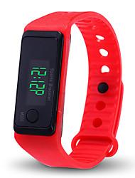 Недорогие -Муж. Жен. электронные часы Цифровой силиконовый Черный / Белый / Синий Секундомер ЖК экран Повседневные часы Цифровой Элегантный стиль Мода - Белый Черный Желтый / тахометр