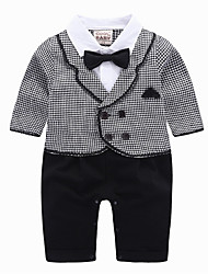 cheap -Baby Boys' Basic Daily Solid Colored Long Sleeve Regular Cotton Clothing Set Black