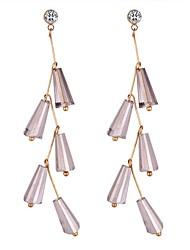 cheap -Synthetic Diamond Drop Earrings Chandelier Long Ladies Sweet Fashion Earrings Jewelry White / Gray For Date Office & Career