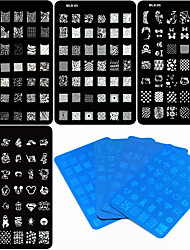 cheap -4 pcs Nail Stamping Tool nail art Manicure Pedicure Unique Design / Cartoon Christmas / Wedding / Birthday