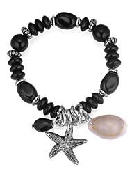cheap -Charm Bracelet Bead Bracelet Drop Starfish Shell Ladies European Ethnic Fashion Acrylic Bracelet Jewelry Gray / Red / Blue For Daily