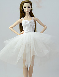 cheap -Doll accessories Doll Clothes Doll Dress Wedding Dress Party / Evening Dresses Wedding Ball Gown Lace Tulle Lace Organza For 11.5 Inch Doll Handmade Toy for Girl's Birthday Gifts  Doll Not Included