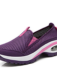 cheap -Women's Trainers / Athletic Shoes 2020 Spring / Fall Hidden Heel Round Toe Sporty Casual Daily Outdoor Glow in the Dark Solid Colored Mesh Booties / Ankle Boots Running Shoes / Walking Shoes Purple