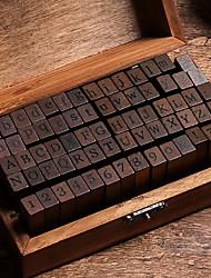 cheap -Wooden / Bamboo Dark Brown 1 / box Stamp Blocks 15*8.5*5cm