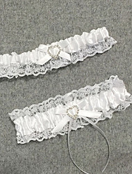 cheap -Chiffon Satin Classic Jewelry / Vintage Style Wedding Garter With Rhinestone / Heart / Gore Garters Wedding / Party & Evening