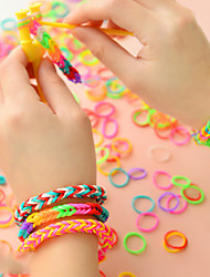 cheap -Women's DIY Multi Layer Colorful Silicone Rainbow Rubber Band Hair Ties Daily Casual